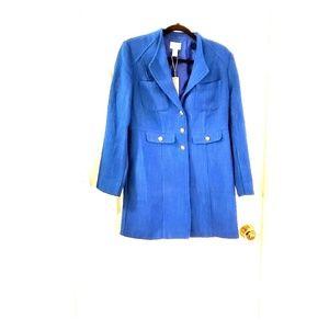 Chico's Modern Textured Topper Ladies Blue Jacket